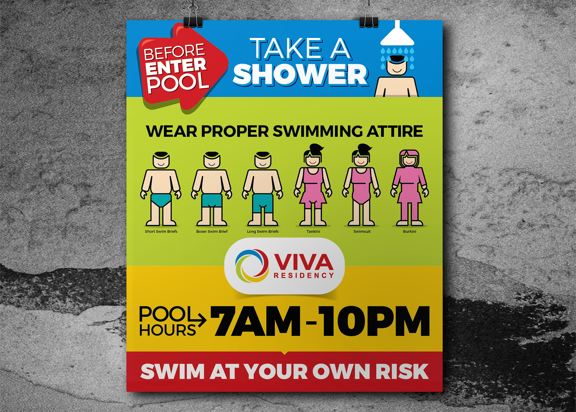 Viva Swimming Pool Poster